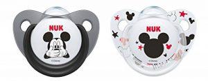 NUK Pack 2 Tetines Disney Mickey Silicone Sucette Biberon 6-18mois,modèles assortis de la marque Nuk image 0 produit