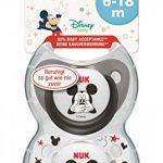 NUK Pack 2 Tetines Disney Mickey Silicone Sucette Biberon 6-18mois,modèles assortis de la marque Nuk image 2 produit