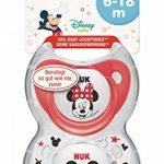 NUK Pack 2 Tetines Disney Mickey Silicone Sucette Biberon 6-18mois,modèles assortis de la marque Nuk image 3 produit