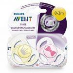 Philips AVENT 2 sucettes nouveau-né décorées fille - Silicone 0-2mois de la marque Philips image 4 produit
